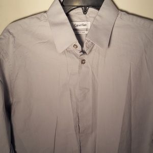 Men's Calvin Klein gray shirt size 15 1/2